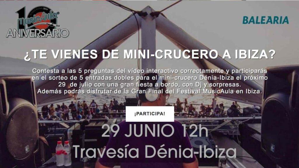 Test musical para sorteo entradas MusicAula – Baleària 2019 – Vídeo interactivo